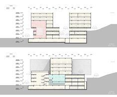 Seoul Metropolitan Archive. Competition design for the new Metropolitan Archive building in Seoul, South Korea #architecture #section Daniel Valle Architects