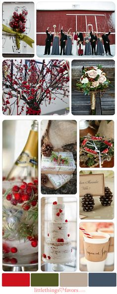New Winter Wedding Color Palette Ideas for 2013-2014