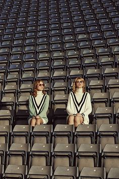Credit: Jon Gorrigan for the Guardian Nicole and Beth both wear V-neck jumpers, £295, by Rag & Bone. Roll-neck jumpers, £135, by John Smedley. Sunglasses, £490, by Cutler And Gross. Nicole wears skirt, £340, by Iceberg. Beth wears skirt, from a selection, by Salvatore Ferragamo.