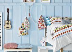 Child's Modern Bright Bedroom with Scandi Pattern
