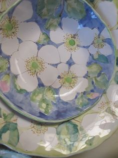 Wild Roses Maiolica Pottery by Laurie Curtis