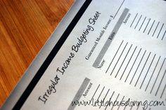 Irregular Income Budgeting Chart. Free Printable! #printable #budgeting