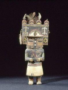 Coll. BRETON Ce danseur Kachina Hemis a très certainement été réalisé par les Hopi vers le tournant du XXe siècle, 25cm