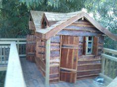 Eucalyptus wood children's play house