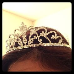 Tiara Pretty sparkly tiara was only used once for a costume party. Still in good condition Jewelry