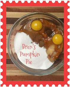 Bren?s Pumpkin PieThe Christmas Trap! what a fun family tradition! I cant wait to try this!