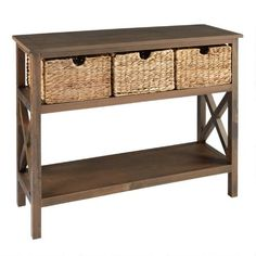 One of my favorite discoveries at ChristmasTreeShops.com: Manor Brown Planktop Console Table