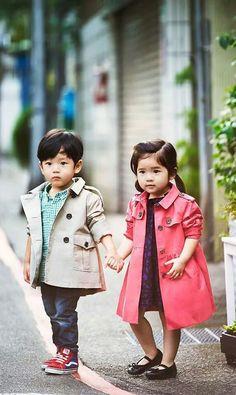 well dressed siblings
