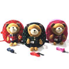 Teddy Bear Plush PreSchool Backpack - Toddlers Baby Boys Girls School Bag