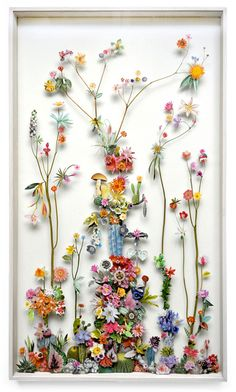 Anne ten Donkelaar Flower construction #17  (70cm x 120cm x 6.5 cm)