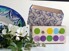 Cajas de madera maciza decoradas con decoupage. www.elpiojito.es