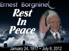Rest in Peace Ernest Borgnine, Thoughts and prayers to his family, friends and fans as we have lost another Hollywood icon today. Ernest Borgnine passed of Kidney Failure today, July at the age of 95 Old Cemeteries, Graveyards, In Memorian, Famous Veterans, Ernest Borgnine, Ripped Men, Hollywood Pictures, Kiss Of Death, Famous Graves
