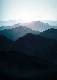 Mountain landscape, julisteet