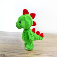 Crochet pattern in english tim the lovely dinosaur 923 cm crochet pattern in english tim the lovely dinosaur 923 cm tall animal amigurumi toy instant pdf download fandeluxe Gallery