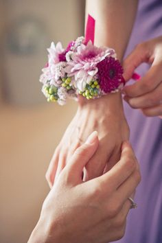 Corsages instead of bouquets