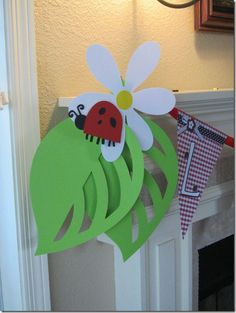 Ladybug party decor using the Cricut