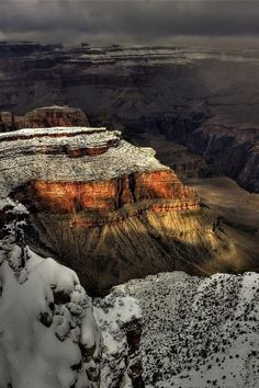 darkness falls in the wintry grand canyon by danilo faria
