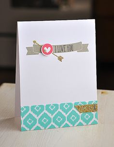 I Love You Card by Maile Belles for Papertrey Ink (March 2013)