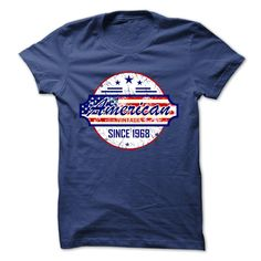 (Tshirt Perfect TShirt) american vintage flag since 1968 Discount 15% Hoodies Tees Shirts