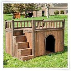 Extra Large Solid Wood Dog Houses – Suits Two Dogs Or 1 Large Breeds. This Spacious Large Dog Kennel Has Two Doors And Can Be Partitioned For Two Dogs. Large Outdoor Dog Bed Has A Raised Bottom and Natural Insulation. Your Perfect Large Dog Bed. Wood Dog House, Pallet Dog House, Wooden House, Porch Wood, Dog House For Sale, Small Dog House, House With Balcony, House Porch, Animal House