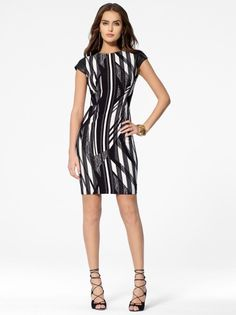 Black & White Graphic Print Dress #CacheStyle
