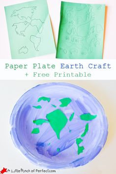 Paper Plate Earth Craft for Kids + Free Printable | A Little Pinch of Perfect