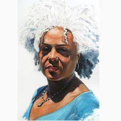 The Oracle by Patrick Henry Thomas art African American Art, African Art, Natural Hair Art, Natural Beauty, Black Artwork, Art Textile, Wow Art, Afro Art, Black Women