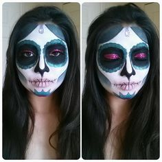 Day of the dead makeup. Dios de los muertos. Sugar skull. Halloween makeup!