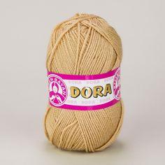 Pletací příze Madame Tricote paris DORA 114 oříšková, klasická, 100g/250m Tricot