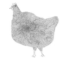 The Chicken 8x10 Fine Art Archival Print of Original Pen and Ink Drawing. $30.00, via Etsy.