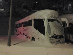 Autocar de viaje en los Alpes, con grupo de Snow Alps, Group