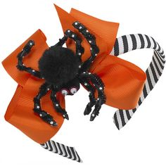 Our Rags Land Spider Bow Headband! Shop NOW at www.ragsland.com