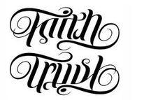 An anagram (faith/trust), this would make a pretty tattoo.