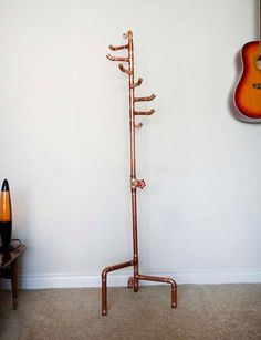 Free Standing Coat Rack Copper Coat Tree with 8 by DerekGoodbrand