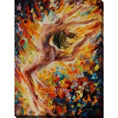 Leonid Afremov 'The Dance Of Love' Giclee Print Canvas Wall Art Overstock.com $137.99