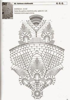 Kira crochet: Crocheted motif no. 331