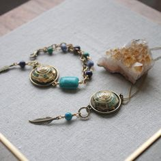 NURTURE. PEACE. HEALING  Surround yourself with the nurturing energy of this beautiful Dream Catcher Orgonite necklace featuring Turquoise and Blue Jasper. Bring Peace and Healing to you and your surroundings while wearing a beautiful piece of jewellery.