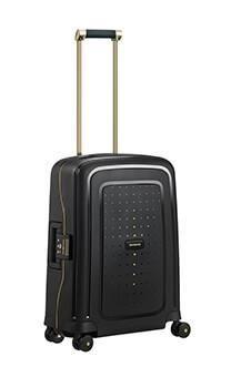 bd55dade Samsonite S`Cure DLX Lett Black Gold Kabin Koffert   Bagbrokers - BagBrokers