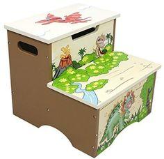 Fantasy Fields By Teamson Dinosaur Kingdom Childrens Wooden Toilet Training Up