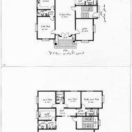 مخططات منازل حديثة House Floor Design, Iron Gate Design, Architectural House Plans, Model House Plan, House Map, Family House Plans, Free Pdf Books, Villas, Architecture Design