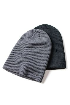 """Pro Company Mens Cold Weather 12/"""" Long Knitted Beanie Hat Warm Winter Cap Black"""