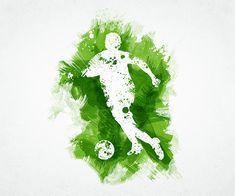 Soccer Art (Page of Soccer Art, Soccer Poster, Football Art, Soccer Fifa, Sport Football, Soccer Tattoos, Teaching Drawing, Soccer Inspiration, School Murals