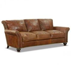 Brown All Leather Sofa