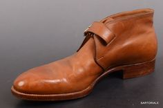 SAINT CRISPIN'S Hand Made Brown Ankle Chukka Boots Shoes 7 F / US 8 MOD 216.