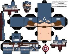 captain america paper toy