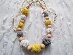 Crochet teething / nursing necklace