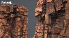 ArtStation - Arid rocks & cliffs - Raiders of the broken planet, Daniel Castillo