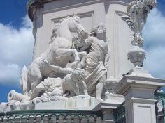 Statue, Praça do Comércio  ,Lisboa
