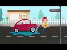 Did you know that if you wash your car on the driveway or in the street you are probably polluting the creeks, rivers and seashore. Watch this video to see h. Water Pollution, Car Wash, Rivers, Routine, Knowledge, Green, River, Lakes, Facts