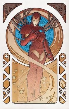 Alphonse Mucha Iron Man!!! Yay Capitalism! This is SO going in our basement when we install the home theater!!! :D